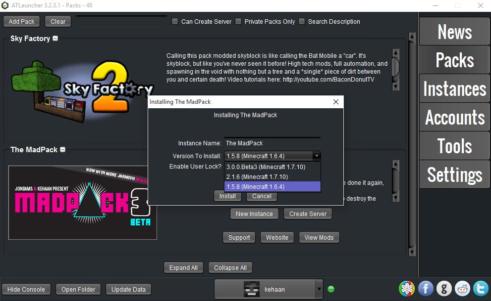 madpack 2 server